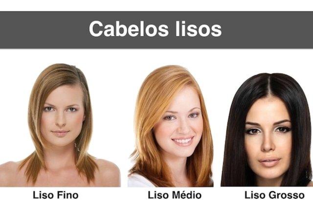 Tipos de cabelo liso
