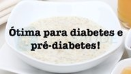Receita de mingau de aveia para diabetes