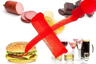 Alimentos que devem ser evitados