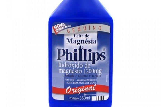Leite de Magnésia de Phillips - Hidróxido de magnésio