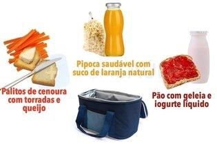 Exemplos de merendas saudáveis