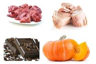 Outros alimentos ricos em ferro