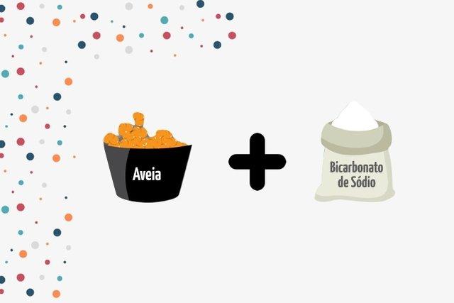 Esfoliante caseiro preparado com aveia e Bicarbonato de sódio