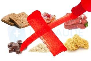 Alimentos proibidos ricos em gordura e carboidratos