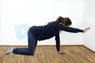 Exercício de propriocepção do ombro