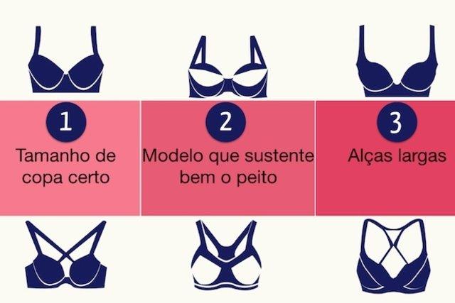 Modelos de sutiã para peito grande que sustentam e diminuem o volume da mama