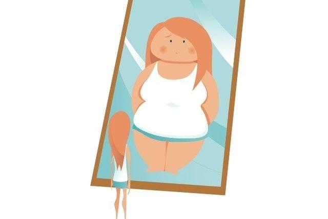 Ver-se acima do peso, mesmo estando muito magro