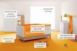 Exemplo de quarto para bebê com asma