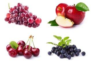 Frutas ricas em quercetina