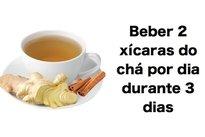 Chá de gengibre e canela para tosse