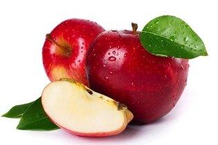 Comer meia maçã