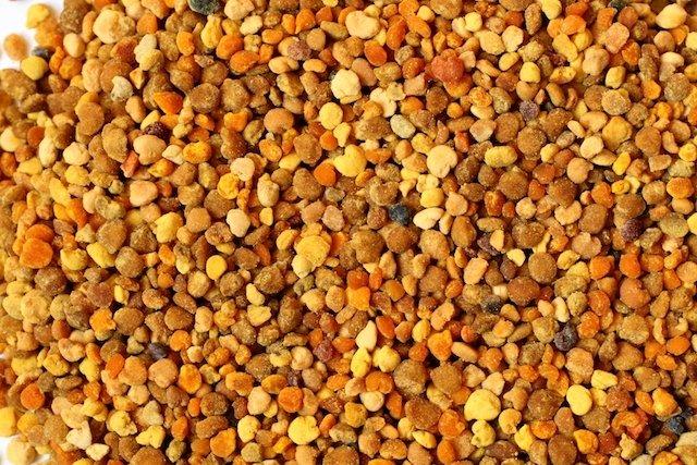 Grãos de Própolis produzidos pelas abelhas