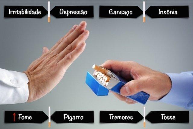 Sintomas de abstinência podem surgir 12 horas após parar de fumar