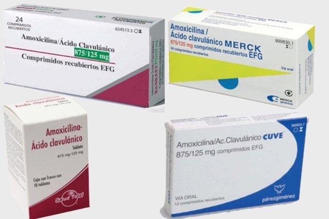 Antibiótico Amoxicilina + Ácido clavulânico