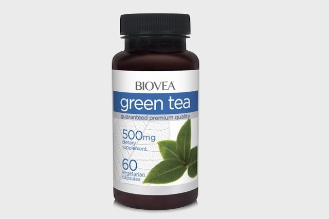 Chá verde em cápsulas