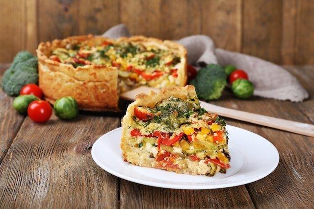 Receita de torta de legumes para diabetes