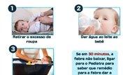 Como baixar a febre do bebê e quando se preocupar