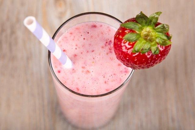 Receita de shake de morango para emagrecer