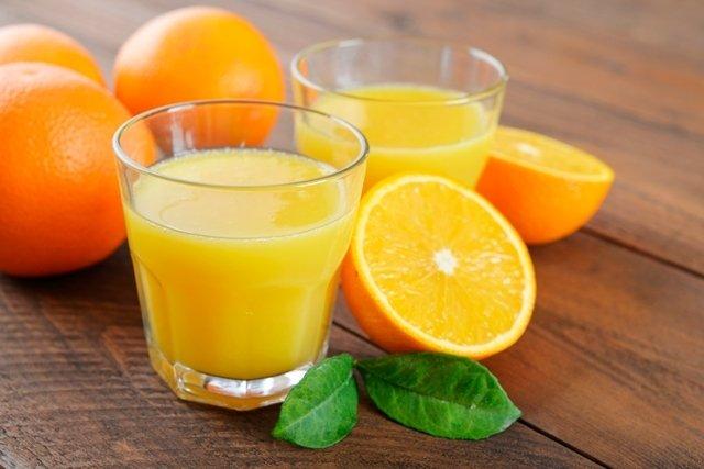 Suco de laranja para pressão alta