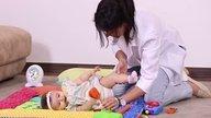 Como ensinar o bebê a virar sozinho