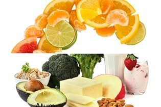 Alimentos ricos em vitamina C e cálcio