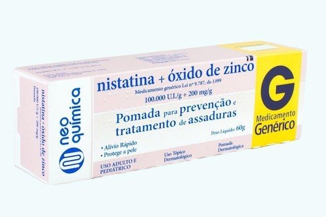 Pomada de Nistadina + Óxido de Zinco