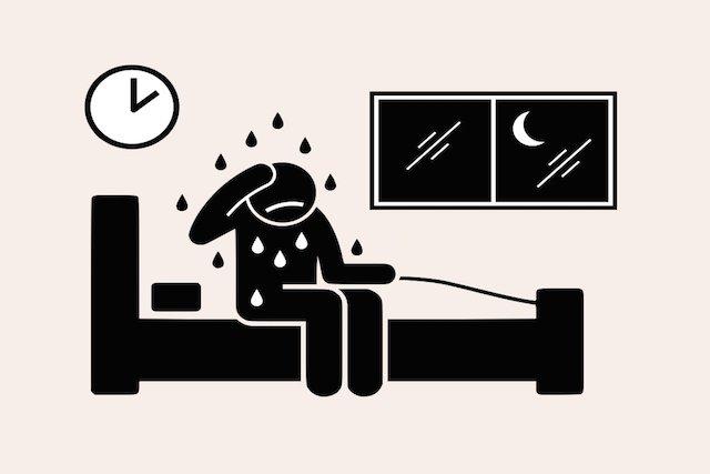 O que é a sudorese noturna e possíveis causas