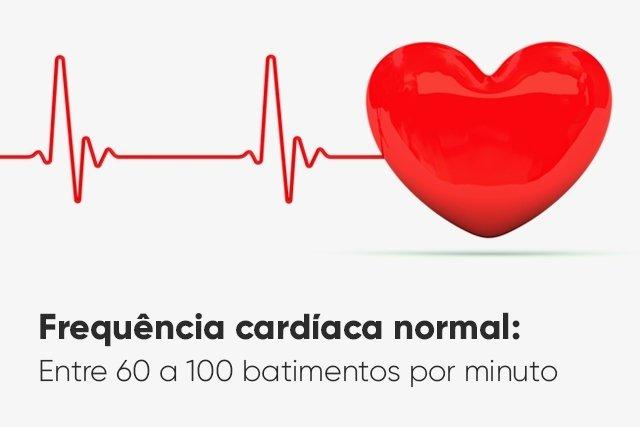 Valores da frequência cardíaca normal, alta e baixa