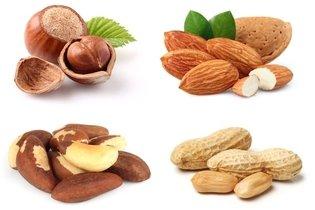 Frutos secos ricos em vitamina E