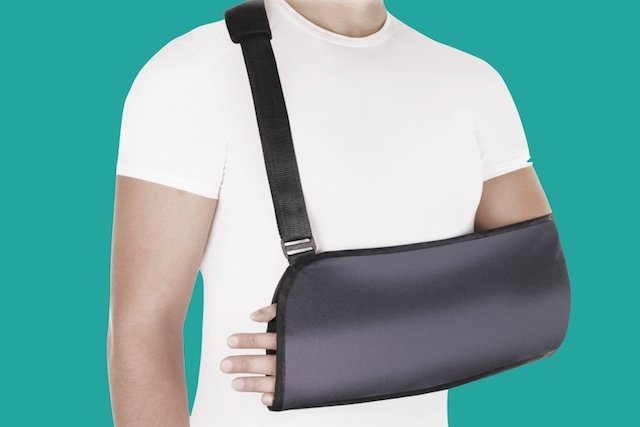 Posição ideal para imobilização de ombro