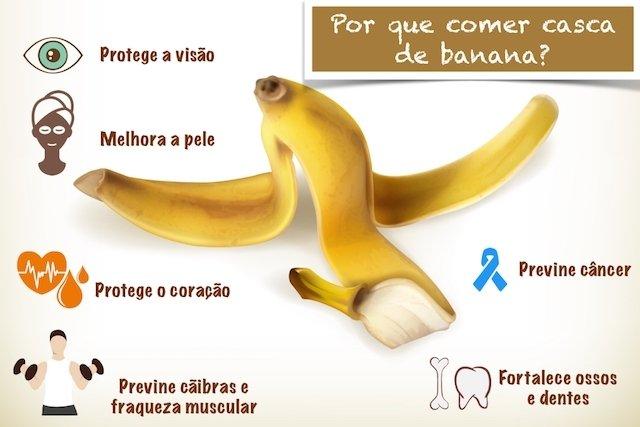 Benefícios da casca de banana