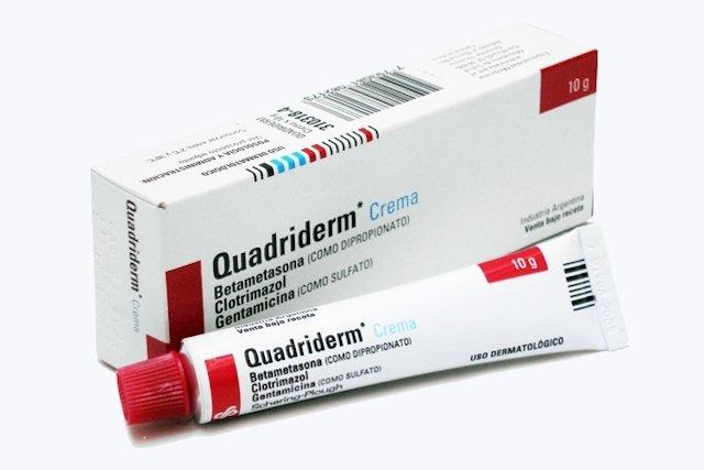 Quadriderm: Pomada de sulfato de gentamicina