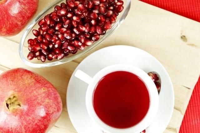 Chá de cascas de romã para dor de garganta