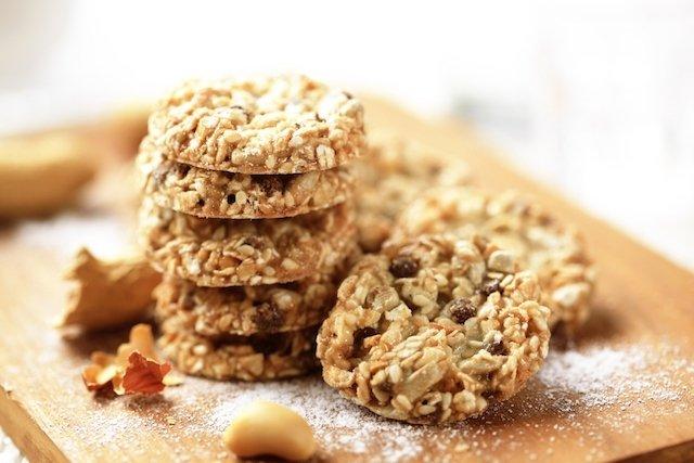 Biscoito de aveia e nozes para diabetes