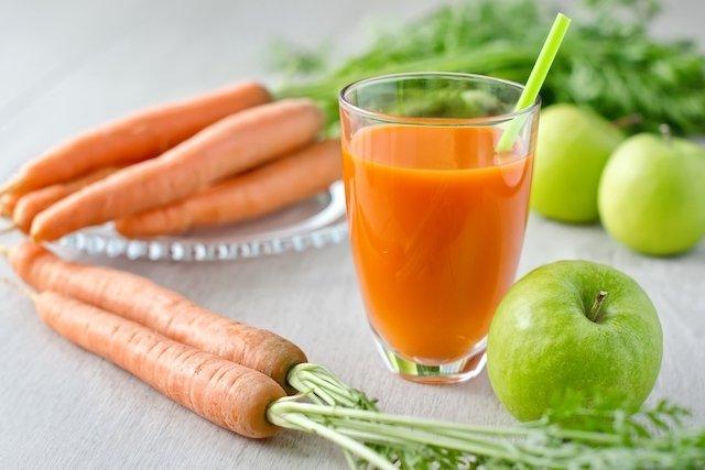 Suco de cenoura para fortalecer o sistema imunológico