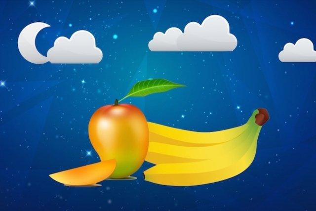 Comer manga e banana à noite não faz mal à saúde