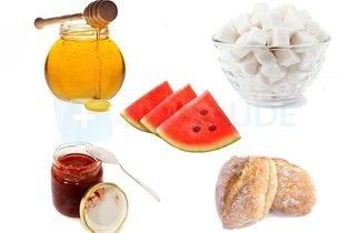 Alimentos ricos em carboidrato simples
