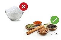 Substituir o sal por ervas aromáticas