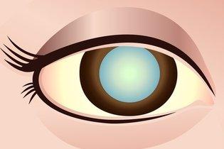 Olho com mancha branca suspeita de vascularização fetal