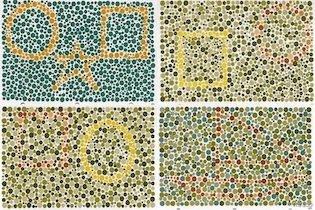 Teste ishihara com formas geométricas
