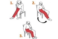 Sentar em cadeira sem braços