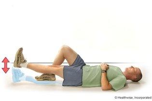 Levantar a perna esticada