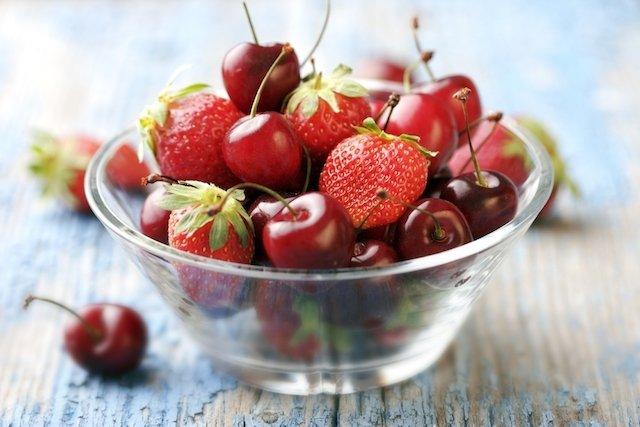 Benefícios das frutas vermelhas