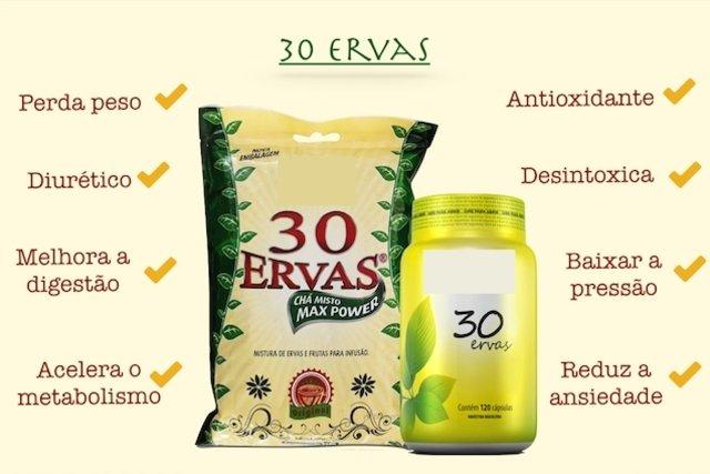 Benefícios do chá 30 ervas