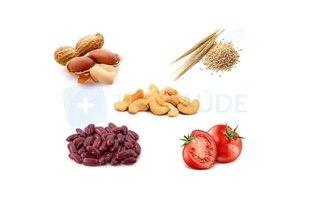 Alimentos de origem vegetal que causam alergia