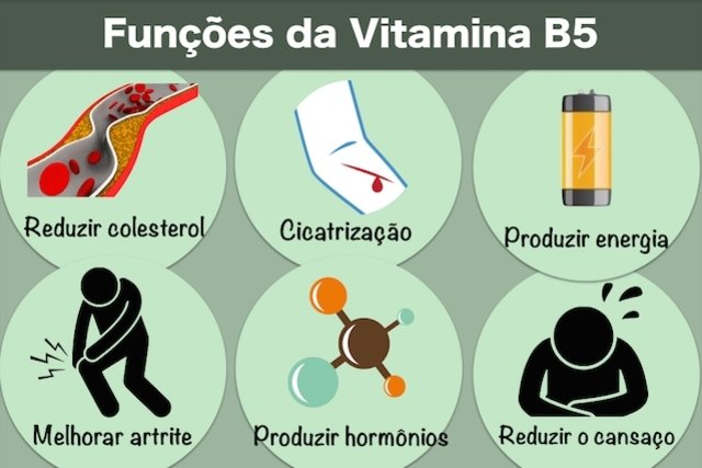 Para que serve a Vitamina B5