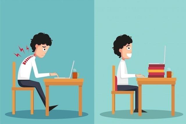 Como manter a postura correta no computador