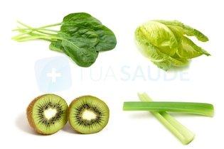 Exemplos de alimentos verdes