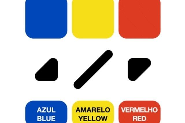 Símbolos para as cores primárias
