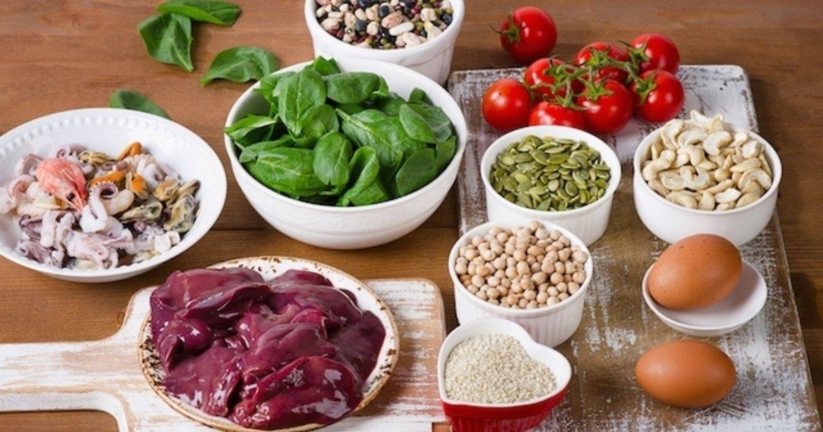Alimentos hierro y contienen calcio que